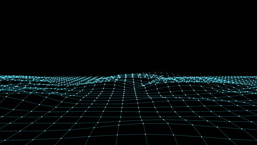 abstract BLUE polygon net connections landscape animation background new quality dynamic technology motion colorful video footage