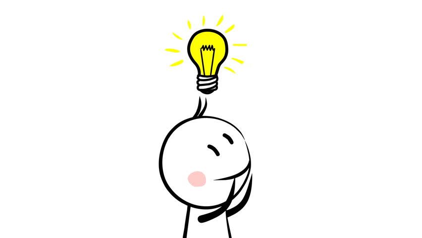 Lightbulb Idea: Think Icon Design, Video Animation