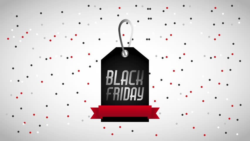 tag price black friday banner and dots background black friday animation hd