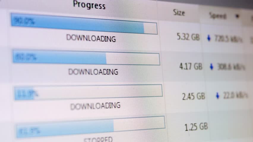 Files being downloaded on a torrent client