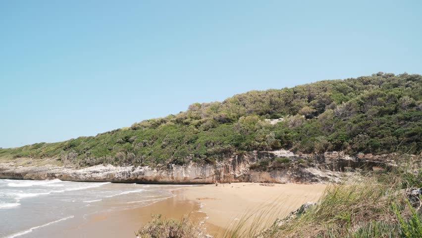 Landscape of wild beach in the Gargano, Apulia, Italy.