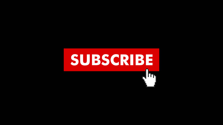 Animation of a Subscribe Button fo Youtube. Choose your favourite Subscribe Button Animation and simply place it into your Videos. The Background in this Video is Transparent and has a Alpha Channel.  | Shutterstock HD Video #1012900742