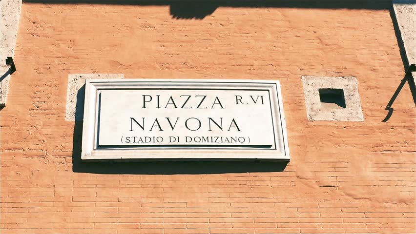 Piazza Navona Street Sign in Rome (Italy).