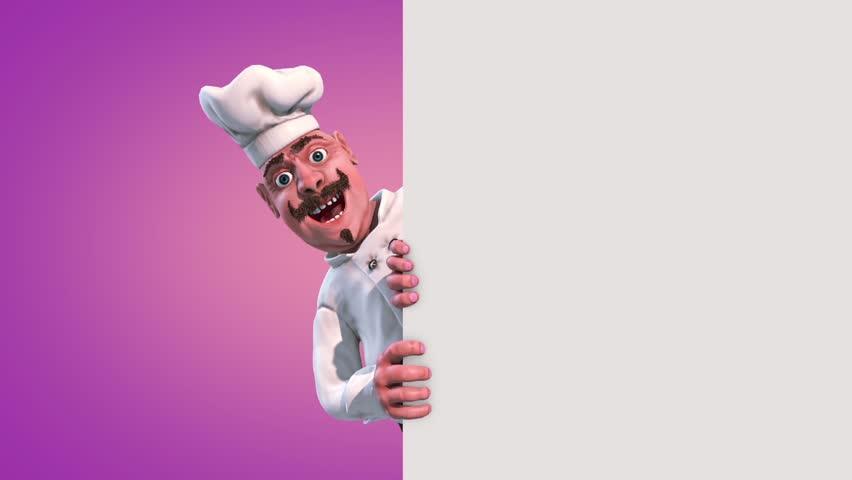 Fun Chef Sandwiches Alpha Matte 3D Rendering Animation
