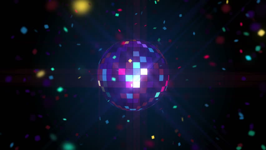 DiscoBall Pixels seamless VJ loop animation for music broadcast TV, night clubs, music videos, LED screens and projectors, glamour and fashion events, jazz, pops, funky and disco party.