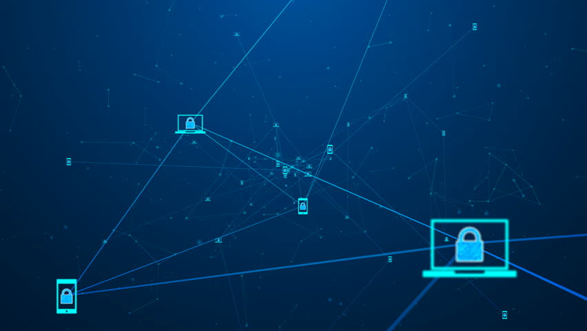 Blockchain network concept.Digital blocks security connection with Distributed ledger technology , Block chain and computer connection.