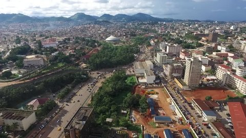 Aerial view of Hills from Yaoundé city