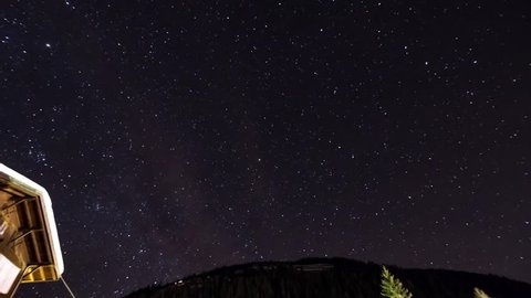 4K Time-lapse Polaris from the Alps South Tyrol