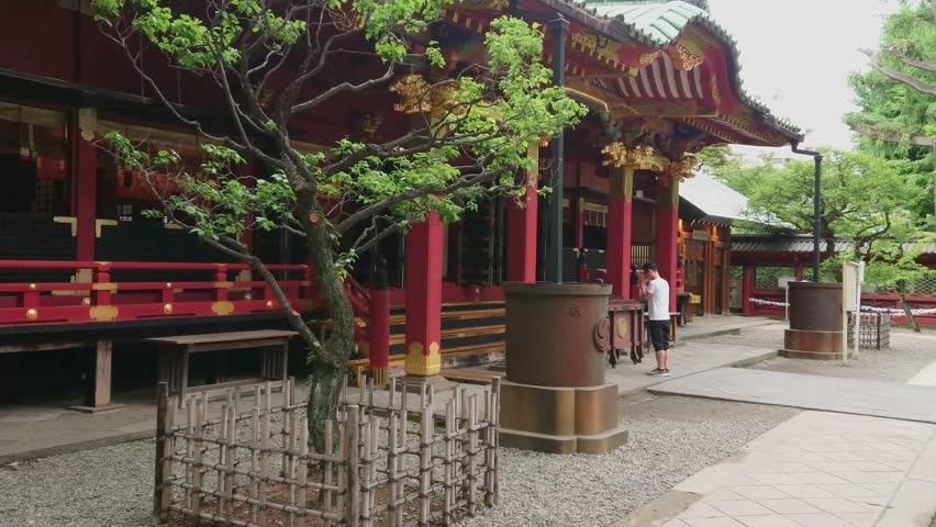 Nezu Jinja Shrine - the famous Shinto Shrine in Tokyo Bunkyo - TOKYO / JAPAN - JUNE 17, 2018 | Shutterstock HD Video #1013110592