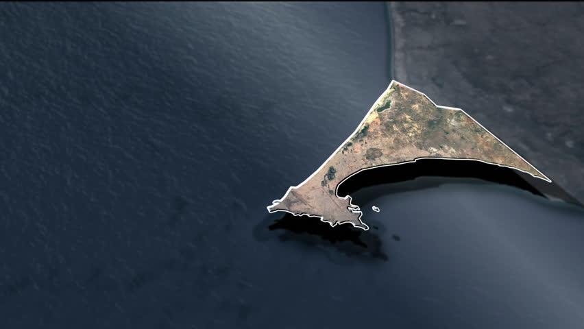 Dakar Region - Animation Map Regions of Senegal