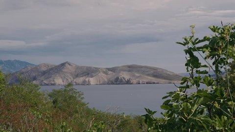 Timelapse of the Island Prvi seen from Baska on Krk.