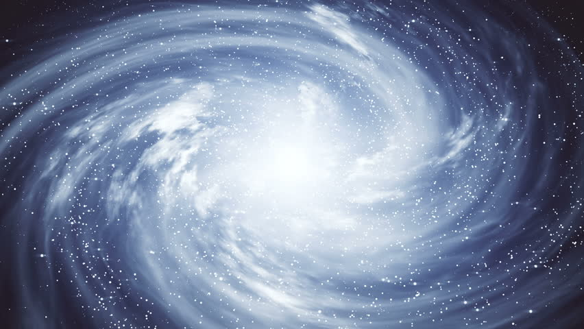 A beautiful space scene with a rotating galaxy #1013273732