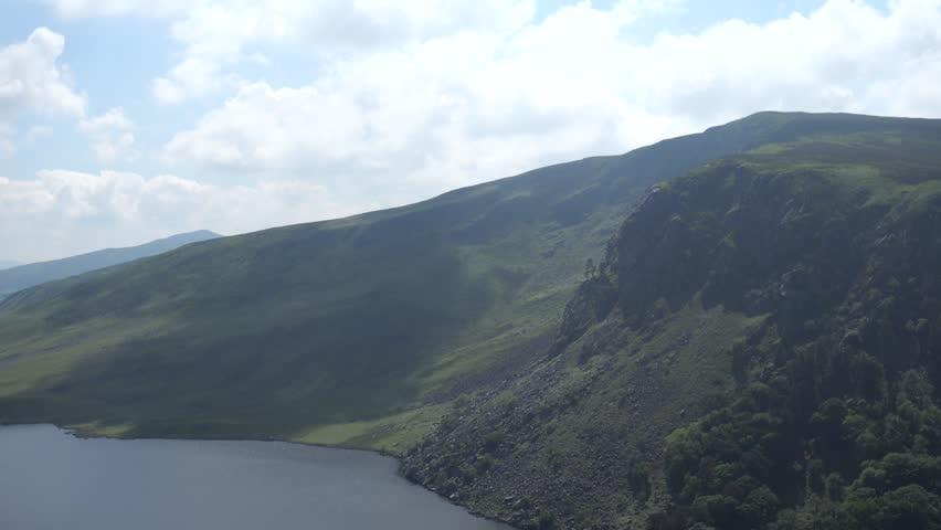 Lough Tay lake in Wicklow Mountains - Ireland | Shutterstock HD Video #1013285162