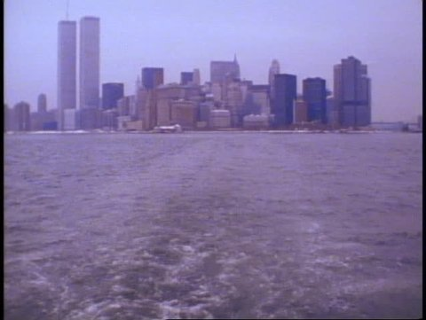 NEW YORK, 1982, The Battery, gray, winter day, World Cruise
