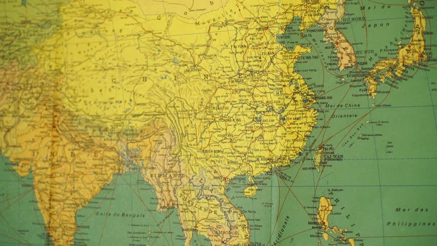 Map Of Asia Hd Image.Old Map Of Asia Stock Footage Video 100 Royalty Free 1013516972 Shutterstock