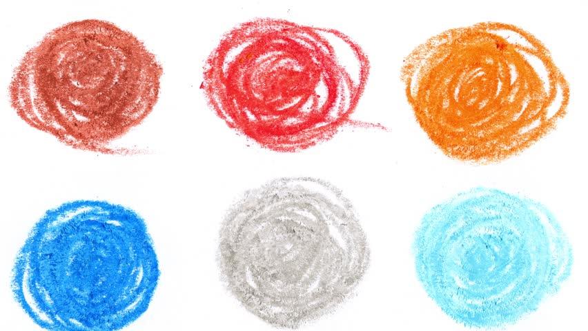 4k moving colorful pencil charcoal art stroke design | Shutterstock HD Video #1013551442