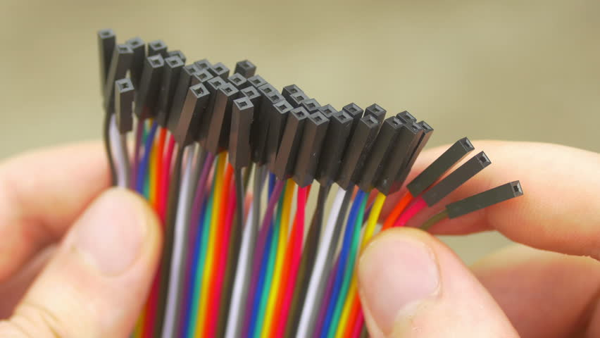 Computer ribbon cables | Shutterstock HD Video #1013560382