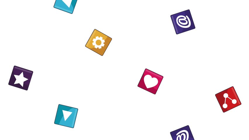 Social network symbols background HD animation | Shutterstock HD Video #1013564132