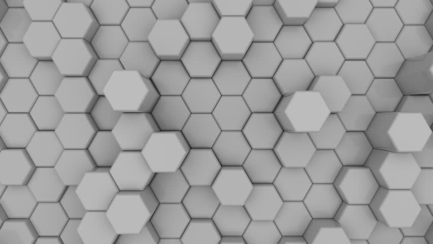Abstract 3d Hexagon Background Wallpaper Stock Footage