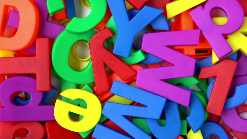 Colorful letters and numbers in rotation   | Shutterstock HD Video #1013598422