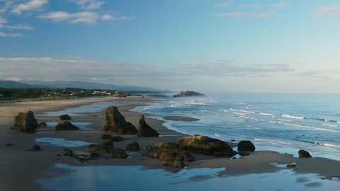 Stunning 4k drone footage of Oregon coastline near Bandon Oregon