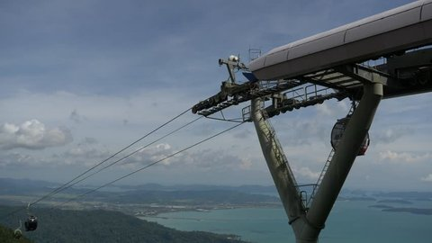 Cable Car Langkawi Island Malaysia filmed in 4K UHD