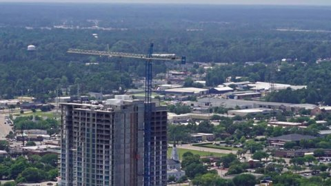 Fly by of hotel under construction in Myrtle Beach