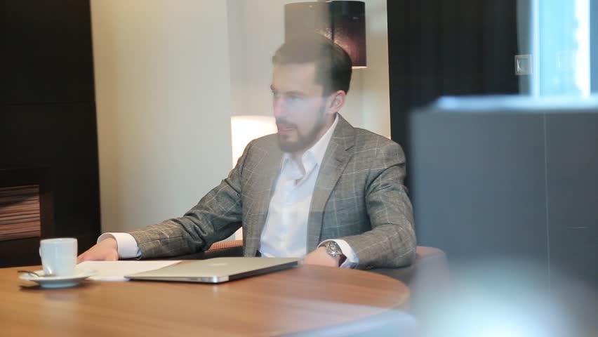 Business meeting of two men   Shutterstock HD Video #1013808452