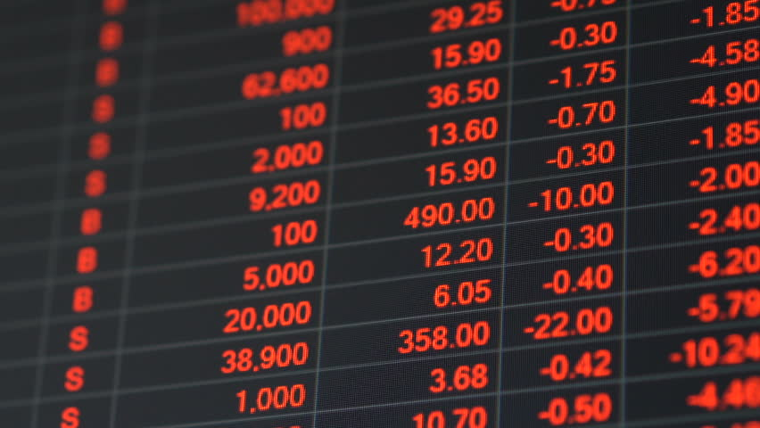 Economic crisis - Red stock market price board chart showing economic crisis of world stock. Bad economy and negative price down stock market situation. Traders are panic and selling their stock.   Shutterstock HD Video #1013835932