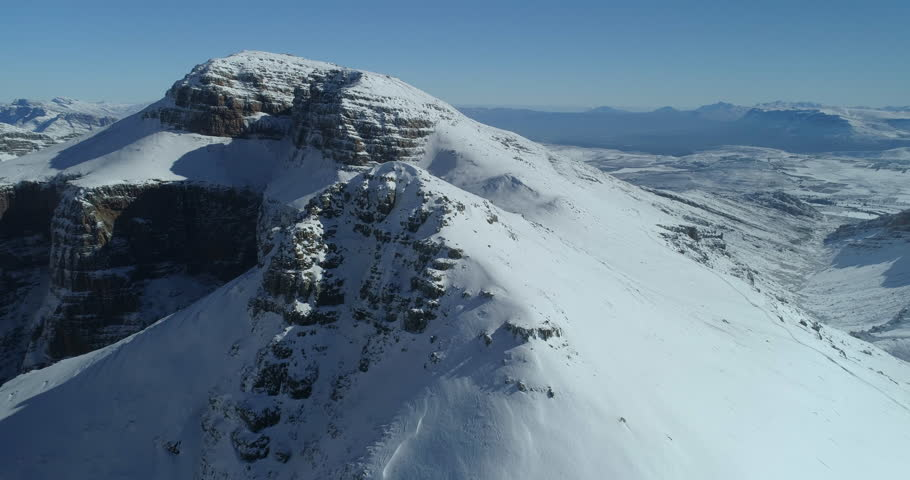 Soaring Over Snow Peaks in South African Mountains | Shutterstock HD Video #1013867312