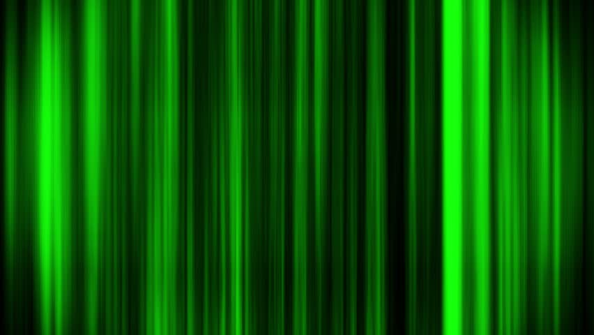 Green Glowing Vertical Lines Loop Motion Graphic Background