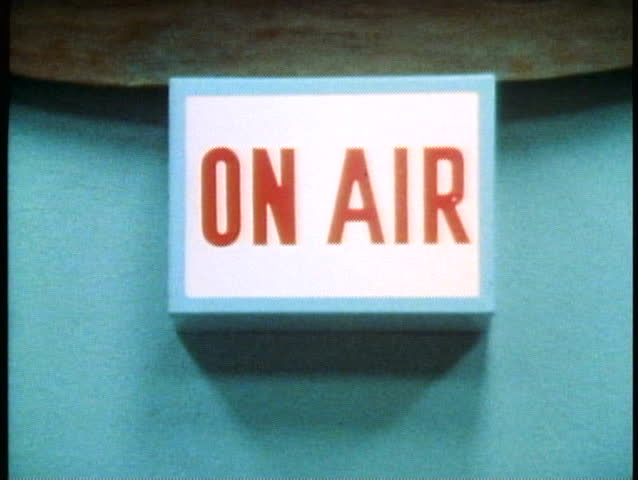 ALICE SPRINGS, AUSTRALIA, 1985, On Air sign, Royal Flying Doctors Service