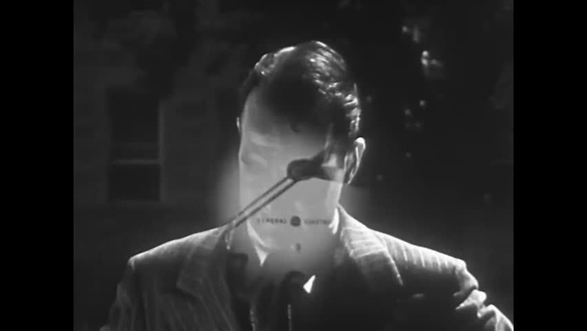 CIRCA 1940s - As a nervous man recollects that he has to make a speech later in the week, he is so anxious that he can't relax, sleep, or eat in 1949.
