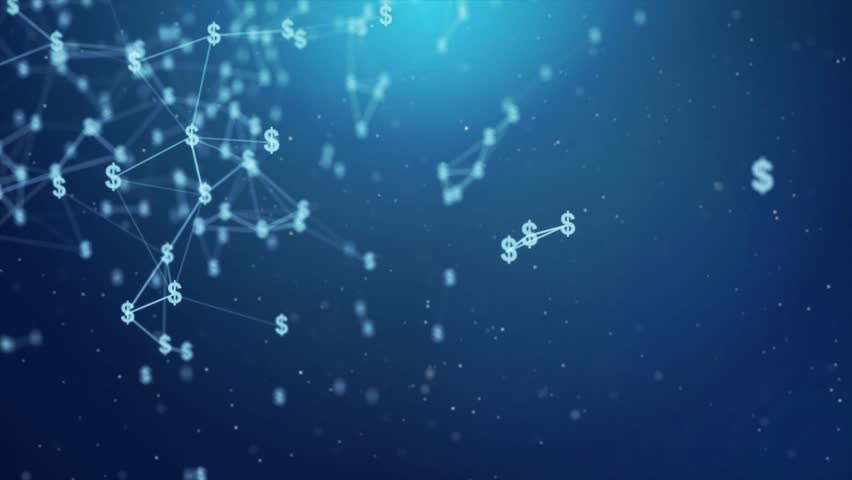 Blue Dollar icon Moving With Connected Lines Abstract Polygonal Geometrical with connected polygons plexus points, dots, lines, triangles Seamless Loop Animation For Stock Market    Shutterstock HD Video #1013892302