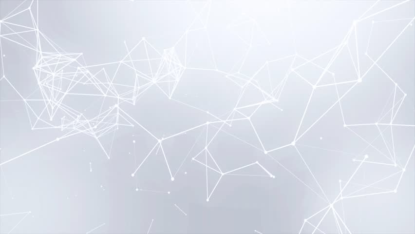 Clean White Abstract polygonal Digital Concept Geometrical Polygon Plexus Fractals Moving low poly Technologies Minimalist design element Seamless loop background for corporate business presentation | Shutterstock HD Video #1013908592