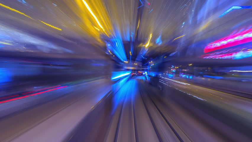 4K.Time lapse Tram Fast Speed Motion In City Of Hong Kong  | Shutterstock HD Video #1013908742