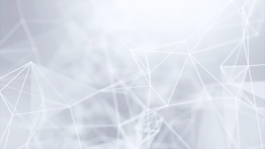 Clean White Abstract polygonal Digital Concept Geometrical Polygon Plexus Fractals Moving low poly Technologies Minimalist design element background for corporate business presentation | Shutterstock HD Video #1013916842