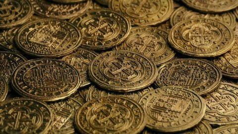Gold Pirate Coins Rotating