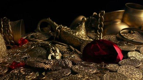 Huge Red Jewel In Treasure Hoard