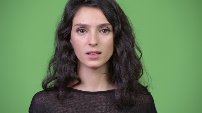 Young beautiful woman looking bored | Shutterstock HD Video #1013990432