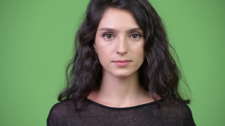 Young beautiful woman showing three wise monkeys concept | Shutterstock HD Video #1013990462
