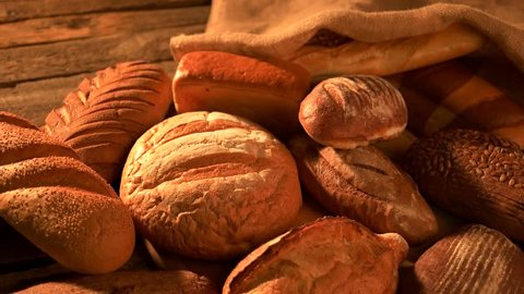 Bread bakery background. Fresh crispy bread close up. Healthy diet concept.