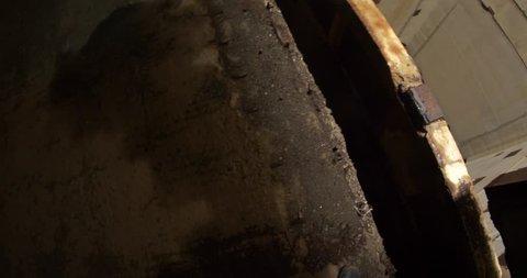 bottomless stone elevator shaft