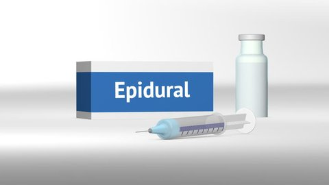 Epidural Injection concept