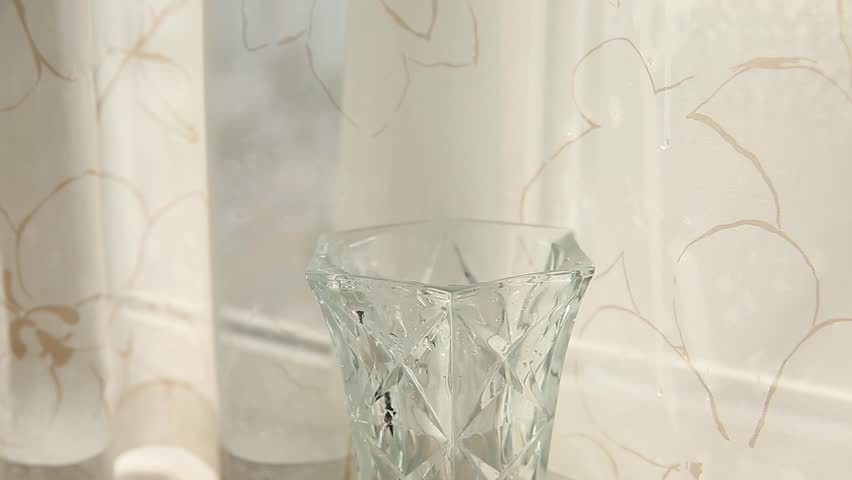 Vase Of Water Flow Footage Stock Clips