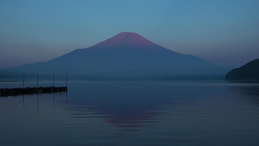 Mt.fuji in the early morning, lake yamanakako | Shutterstock HD Video #1014129602