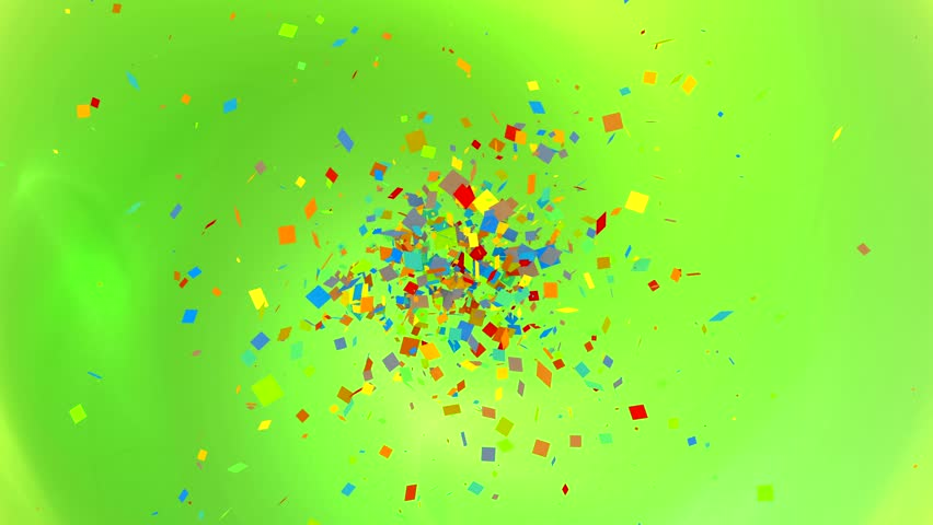 Dance of colored confetti on the screen | Shutterstock HD Video #1014419462