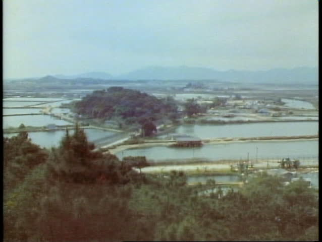 HONG KONG, CHINA, 1982, The New Territories, overview to Red China, rice paddies
