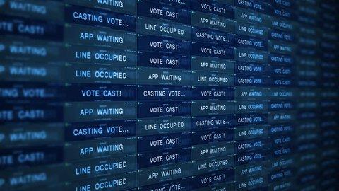 Futuristic Digital Server Technology Concept - Managing Online Voting V2
