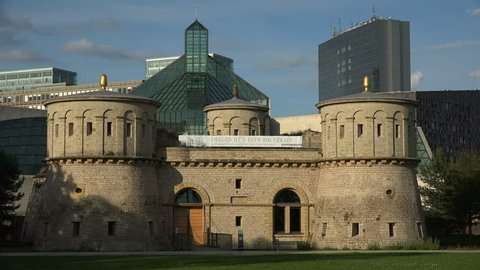Fort Thuengen with Fortress Museum and MUDAM Museum, Kirchberg, Luxembourg City, Luxembourg, Europe